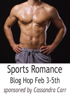 Sports romance blog hop button